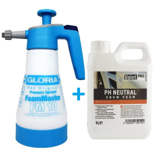 Snow Foam Set Gloria FM10 + ValetPro pH-neutral Snow Foam
