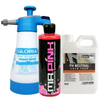 Snow Foam Set Gloria FM10 + ValetPro pH-neutral Foam + Mr.Pink